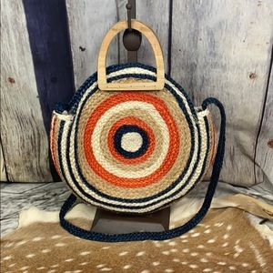 Gorgeous Round Straw Bag NWOT
